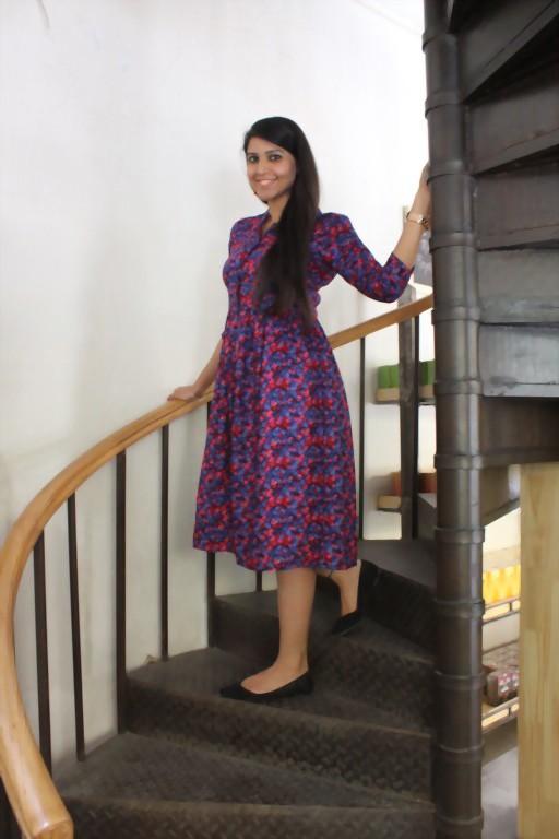 What 2 colors make bright purple dresses